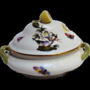 Herend Rothschild Bird miniature tureen covered bon bon