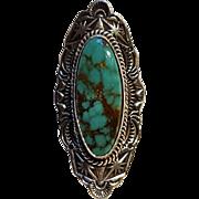 Les Baker Southwest sterling turquoise ring