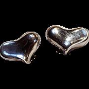 Angela Cummings sterling silver heart earrings 1983