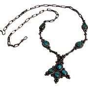 Southwest sterling silver turquoise necklace
