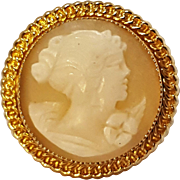 12K Gold filled Cameo ring