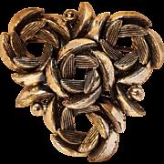 Schiaparelli pin antiqued silver finish