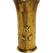 Trench art artillery shell vase Arts and Crafts design