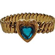 Co Star sweetheart expansion bracelet teal blue heart