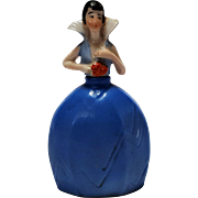 Porcelain flapper lady perfume bottle with heart