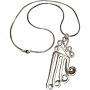 Sterling silver pendant hand crafted