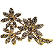 Napier rhinestone flowers pin