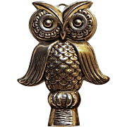 Reed & Barton sterling silver owl whistle pendant