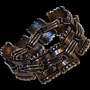 Hector Aguilar Ornamental Square sterling silver bracelet