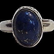 Suarti BA sterling silver ring blue cabochon stone