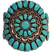 Juliana Williams Navajo turquoise cluster cuff bracelet