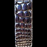 Tiffany & Co Makers sterling silver embossed alligator skin money clip