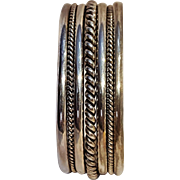 Tahe sterling silver cuff bracelet twisted rope