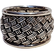 Suarti BA sterling silver ring woven design