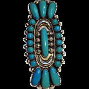 """Julie O Lahi Zuni silver turquoise ring 2 3/4"""""""