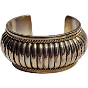 Navajo sterling cuff bracelet 120 grams