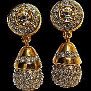Signed Swarovski drop earrings