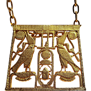 1976 MMA Egyptian Revival pendant necklace