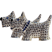 Napier rhinestone Scottie dog terrier pin