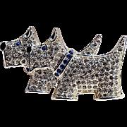 Napier rhinestone Scottie dog terrier pin