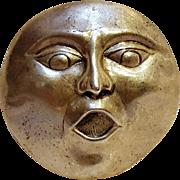 JH Breakell sterling silver Man in the moon pin