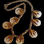 Blown glass ball drop necklace