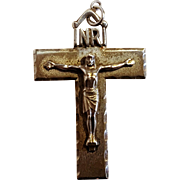 Creed sterling silver crucifix cut work INRI