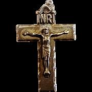 Creed sterling silver crucifix cut work INRI