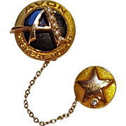 10K Gold diamond seed pearl pin Avon highest honor