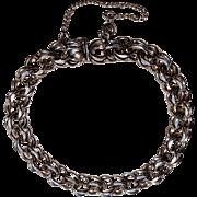 Danecraft sterling silver starter charm bracelet double link