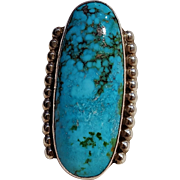 Tommy Jackson Navajo sterling silver turquoise ring