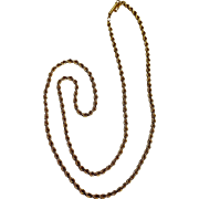 14K Gold rope chain necklace 9.4 grams