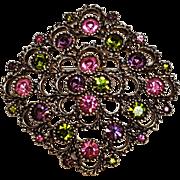 Sarah Coventry rhinestone Austrian Lites pin