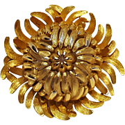 Trifari Chrysanthemum pin