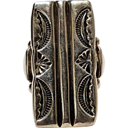 Orville Tsinnie sterling silver ring Native American