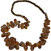 Stone egg bead necklace