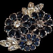 Wiesner rhinestone flower cluster pin