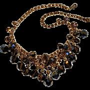 Juliana Swarovski mink crystal cha cha rhinestone necklace