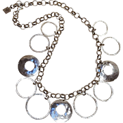 Silpada sterling silver necklace hammered circles