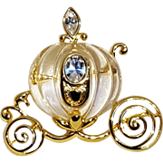 Napier Cinderella's carriage pin resin rhinestone