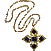 Napier Galleria Maltese cross pendant necklace
