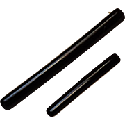 Krementz 14K gold black enamel bar lingerie pin set