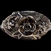 Whiting Davis hinged   bracelet rose