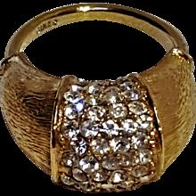 Ciner rhinestone ring