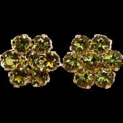 10K Gold peridot cluster earrings JMC