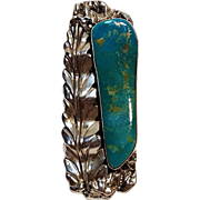Southwest sterling silver turquoise statement ring