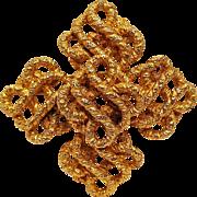 Lucien Piccard maltese cross pin pendant