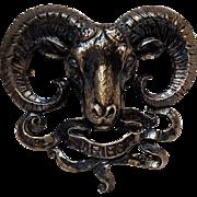 Cini sterling silver Aries Zodiac ram pin