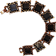 Renoir ebony lace bracelet copper shadowbox