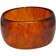 Bakelite bangle bracelet root beer marbled
